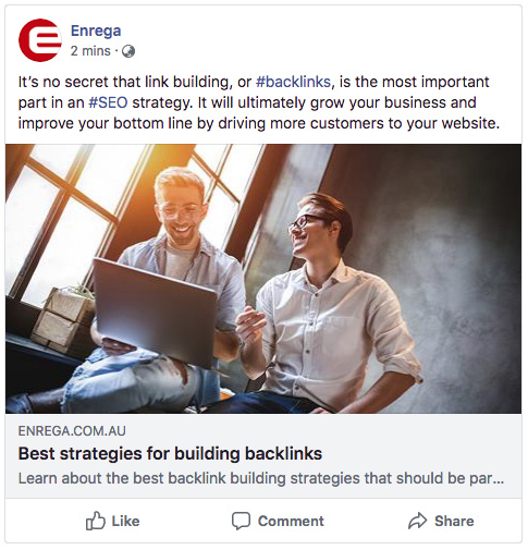 Post for the Best strategies for building backlinks on Facebook